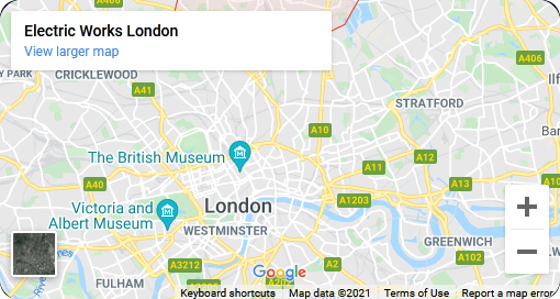 Google Map Location – Electric Works London